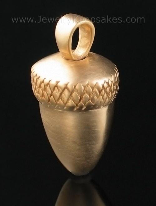 Memorial Locket Gold Plated Acorn