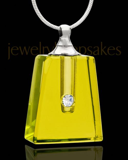 Necklace Urn Golden Reverence Glass Locket
