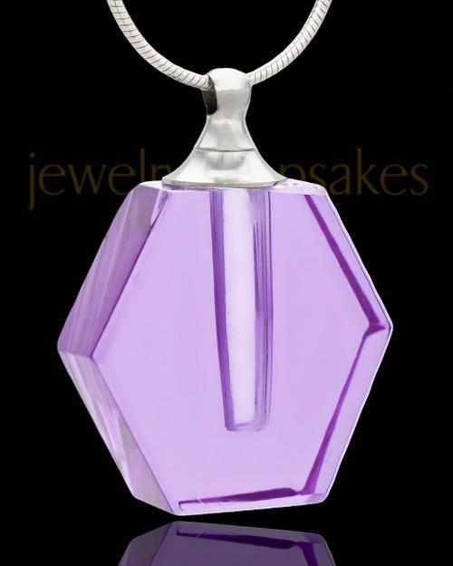 Remembrance Jewelry Lavender Honesty Glass Locket