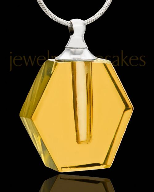 Keepsake Pendant Golden Honesty Glass Locket