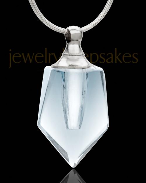 Locket Necklace Clear Devoted Glass Locket