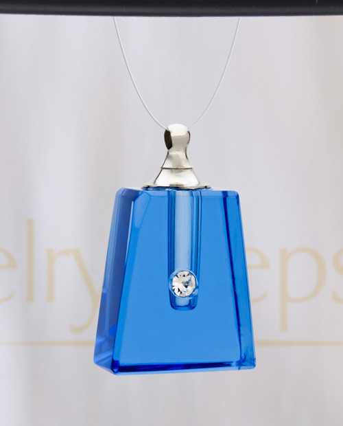 Eternal Blue Reverence Glass Reflection Pendant