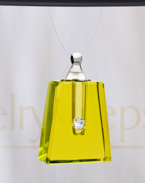 Yellow Reverence Glass Reflection Pendant