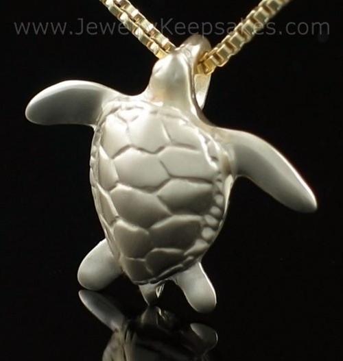 Memorial Keepsake Jewelry 14K Gold Sea Turtle