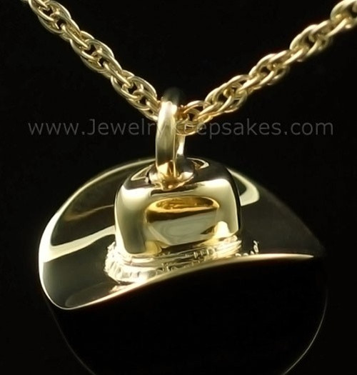 Cremains Locket Gold Plated Hat