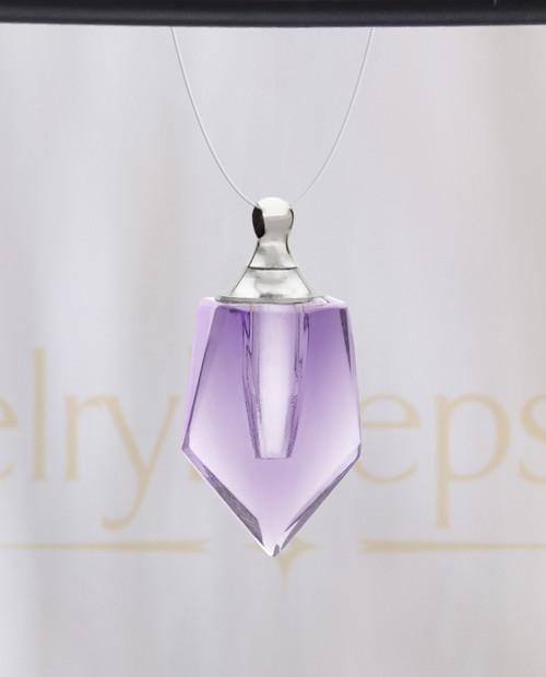 Violet Devoted Glass Reflection Pendant
