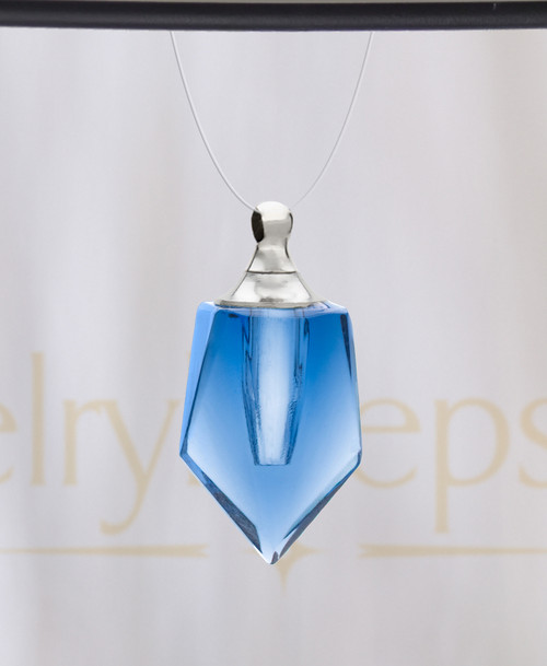 Blue Devoted Glass Reflection Pendant