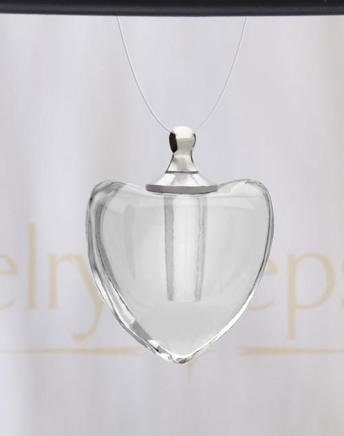 Pristine Heart Glass Reflection Pendant