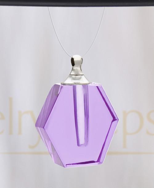 Violet Honesty Glass Reflection Pendant
