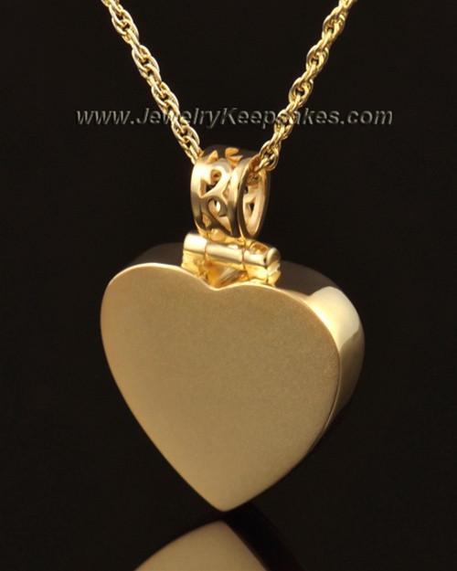Memorial Pendant Grand Heart Keepsake-14K Gold