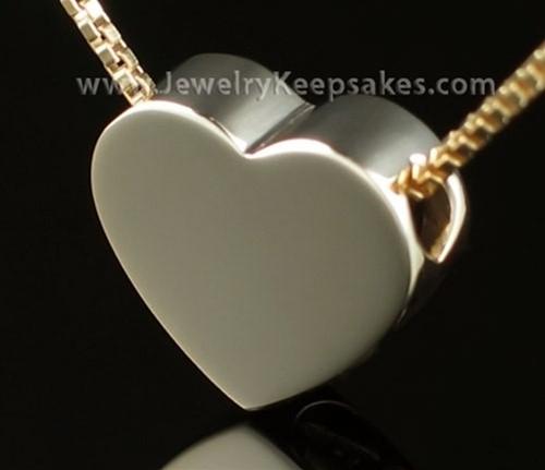 2 People Sliding 14K Gold Heart