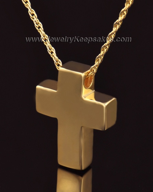Remembrance Pendant 14K Gold Slider Cross