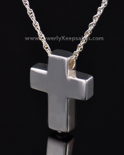 Remembrance Pendant Sterling Silver Slider Cross