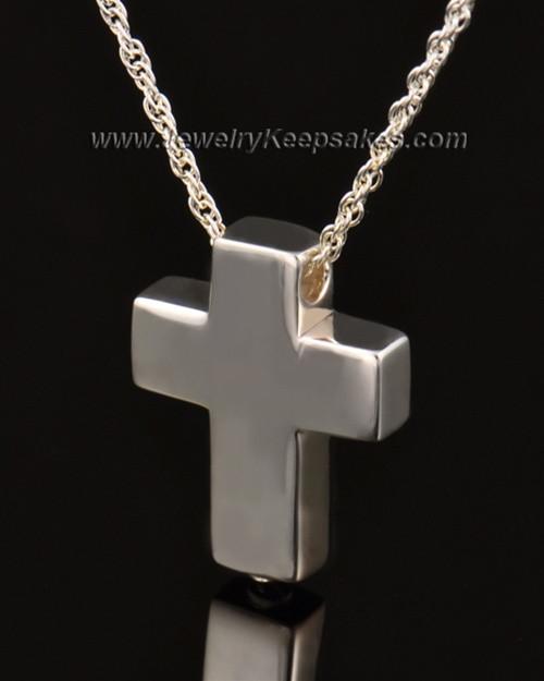 Remembrance Pendant 14k White Gold Slider Cross