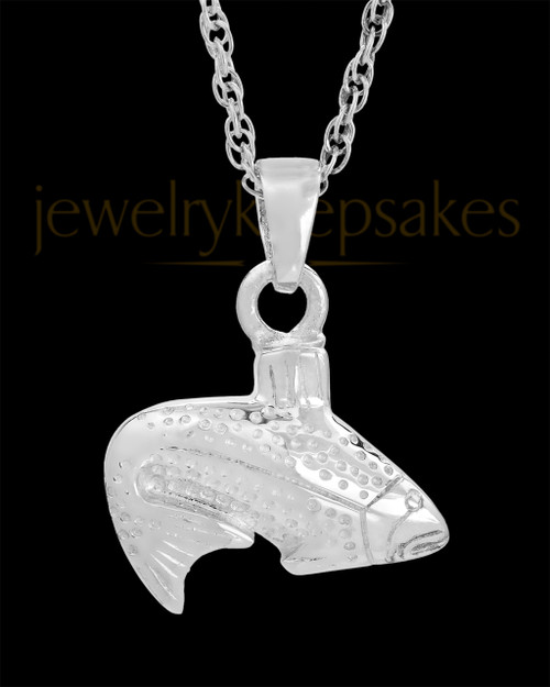 Cremation Urn Jewelry Sterling Silver Circling Fish
