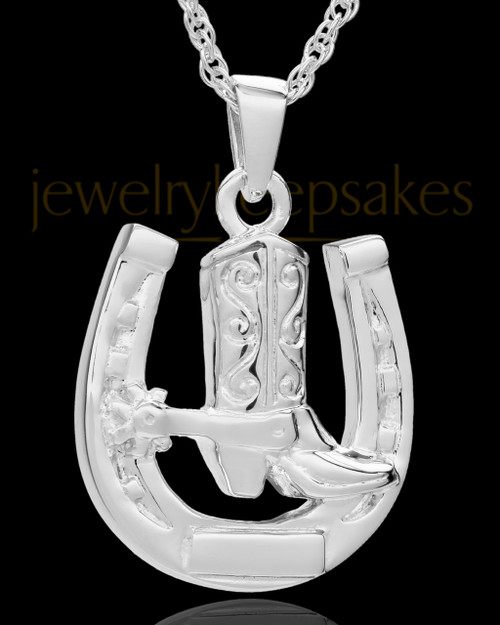 Memorial Pendant Sterling Silver Giddy Up
