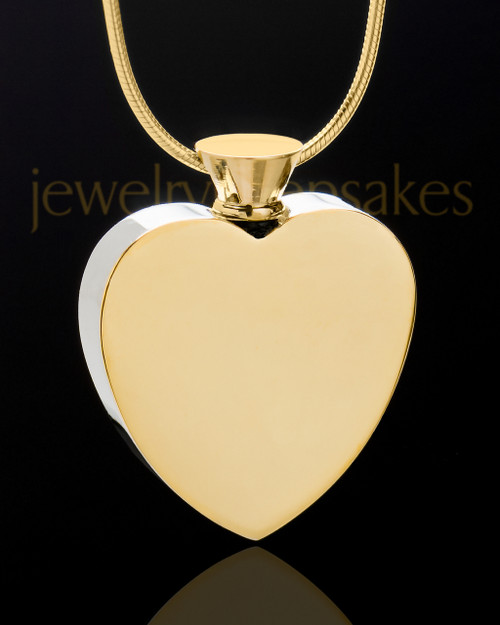 Gold Stainless Enamored Heart Memorial Jewelry