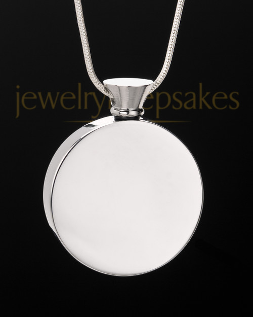 Stainless Steel Abounding Circle Ash Pendant