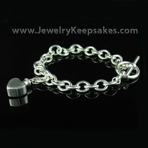 Remembrance Jewelry Bracelet Sterling Silver Round Link Design Your Own