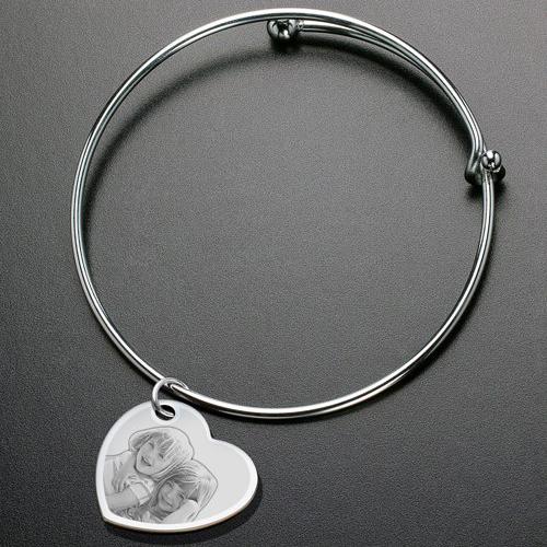 photo engraved bracelet child
