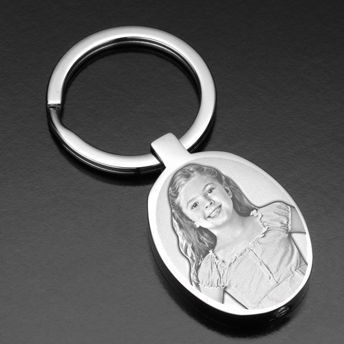 Photo etched keychain