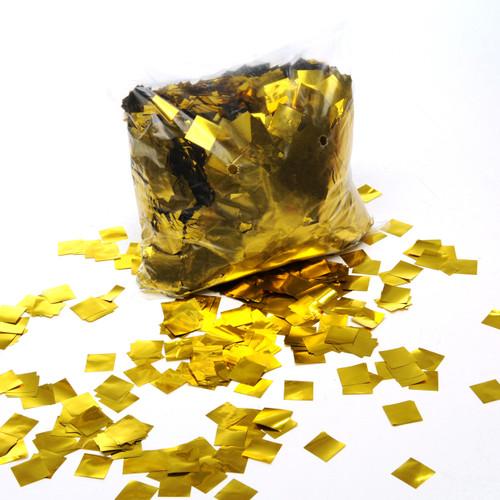Gold Metallic Confetti - 17mm x 17mm - 1kg bag
