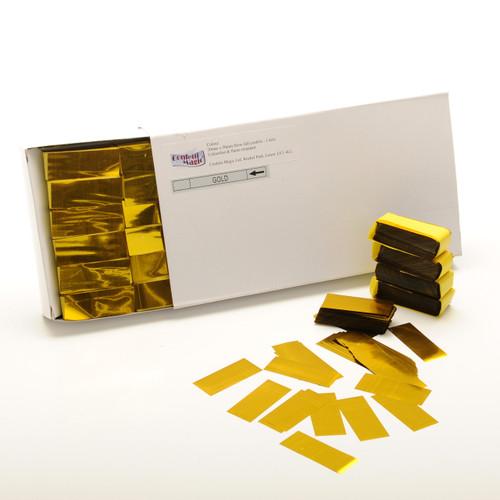 Gold Metallic Confetti - 2cm x 5cm - 1kg box
