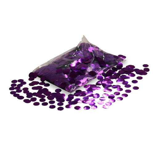 Balloon Confetti - Purple Metallic Confetti - 2cm circles - 1/2kg bag