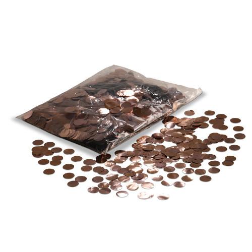 Balloon Confetti - Rose Gold Metallic Confetti - 2cm circles - 1/2kg bag