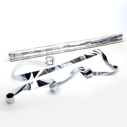 Silver Metallic Streamers - sleeve of 40