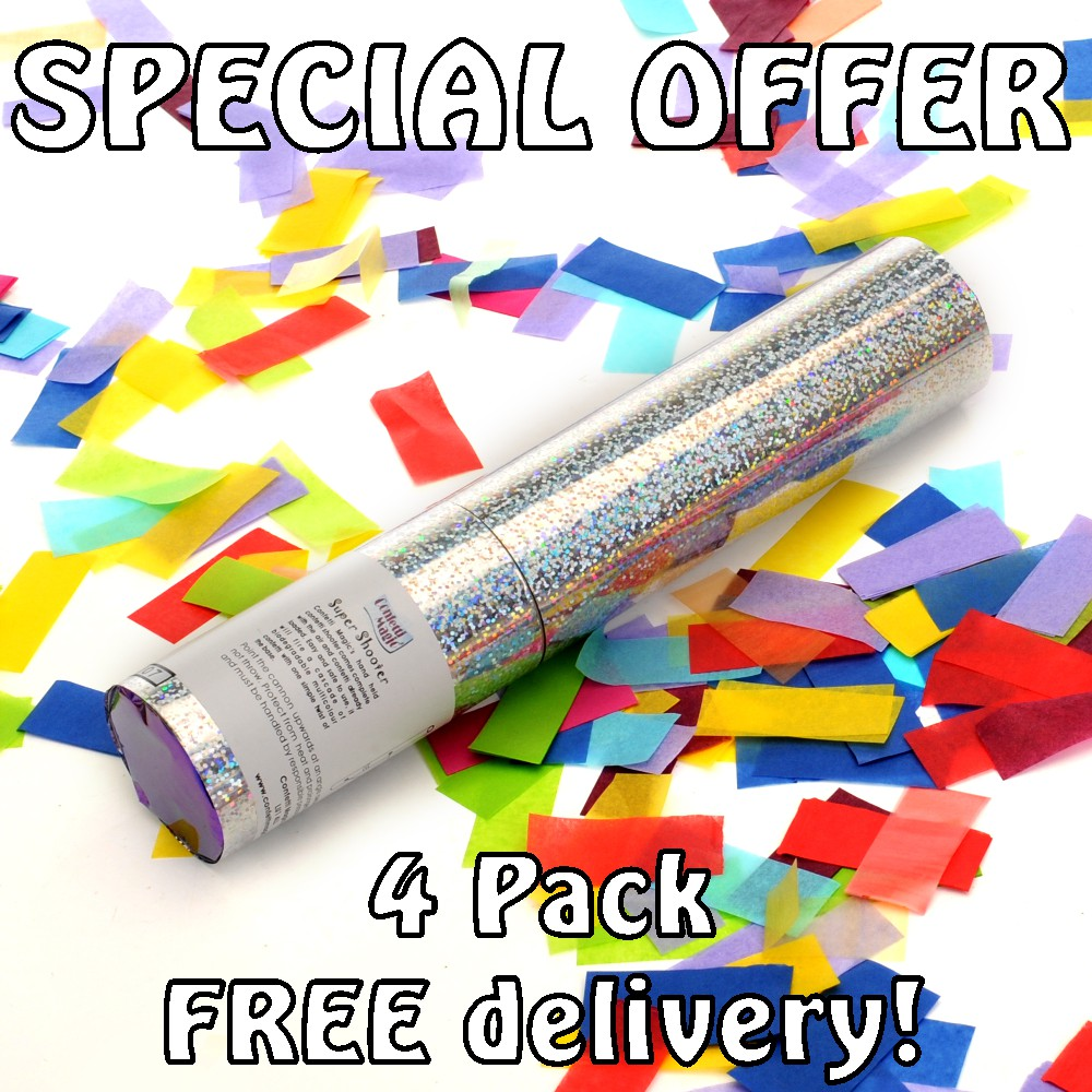 NEW! Confetti Cannon Special Offer Packs With  Free Delivery
