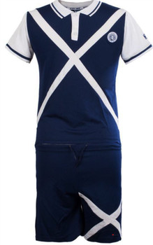 Kids Scotland Football Kit With Saltire Design In Navy Size 6-7 Years
