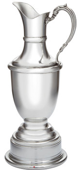 Claret Jug Small On Plinth For Presentation Ideal For Engraving Great Pewter Sporting Trophy