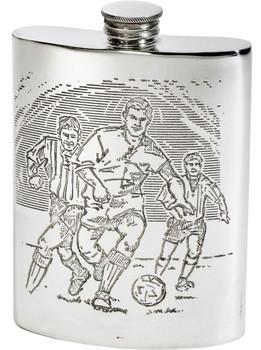 6oz Football Scene Kidney Flask*