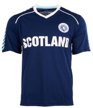 Men'S Plain Scotland Football Top Navy