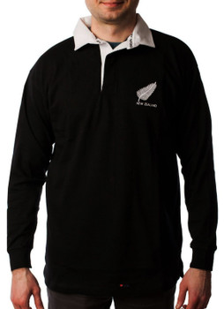 Gents Long sleeve navy New Zealand Rugby Shirt