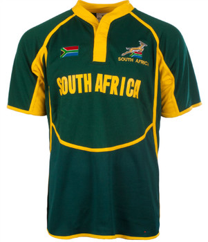 Gents Cooldry Style Rugby Shirt In South Africa Colours Size X-Small