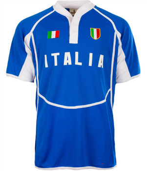 Gents Cooldry Style Rugby Shirt In Italy Colours Size