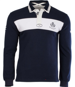 Gents L-S Ssg Rugby Shirt Navy-White