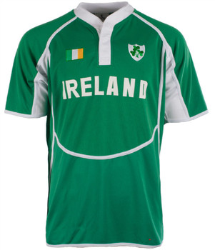 Gents Cooldry Style Rugby Shirt In Ireland Colours