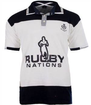 Gents S-S Ssg 2 Rugby Shirt White-Navy