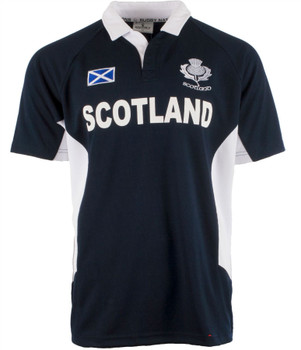 Men'S Scotland Nations Rugby Shirt Navy