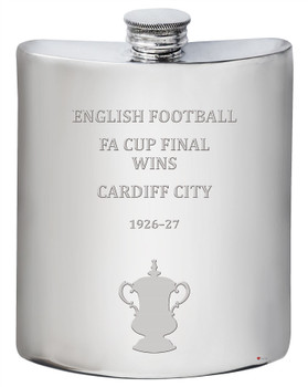 Cardiff City English FA Cup Winner 6oz Pewter Hip Flask