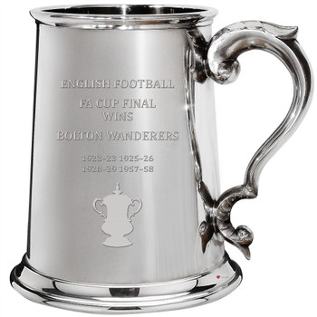 Bolton Wanderers English FA Cup Winner 1pt Pewter Tankard