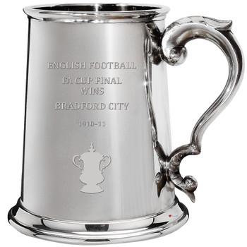 Bradford City English FA Cup Winner 1pt Pewter Tankard