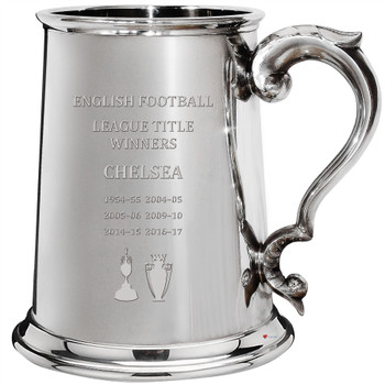 English 1st Division & Premiership Titles, Chelsea, 1pt Pewter Celebration Tankard, Football Champion