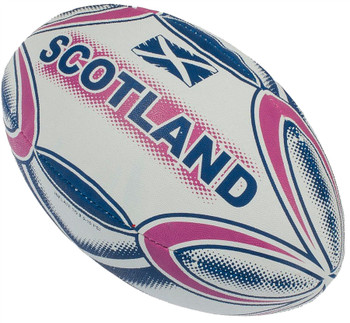 Adult Size Large Rugby Ball Scotland with Saltire Flag
