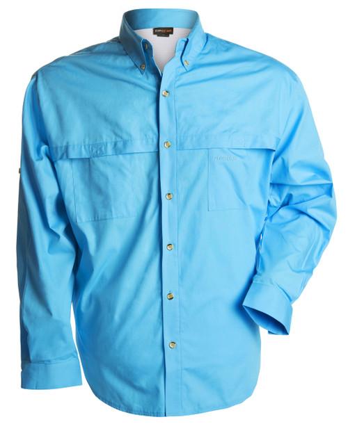 100% Cotton Shirt - Aquamarine Blue