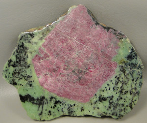 Ruby Crystal & Zoisite Polished Decorator Rock Stone