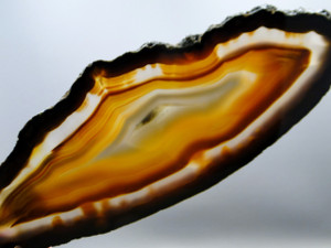 Slab Polished Brazilian Agate 9.25 inch Stone Home Decor Rock #4